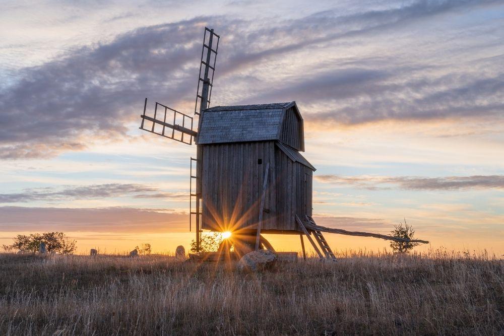 Morile de lemn din Oland