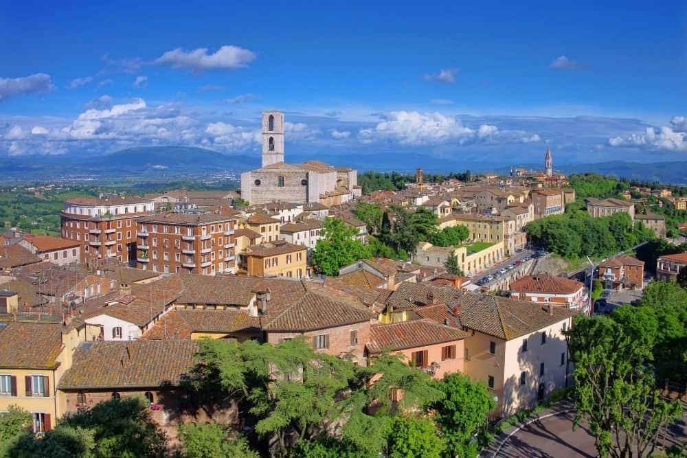 perugia orase medievale in Umbria