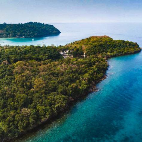 Koh Kood island aerial beach landscape, Ko Kut, Thailand