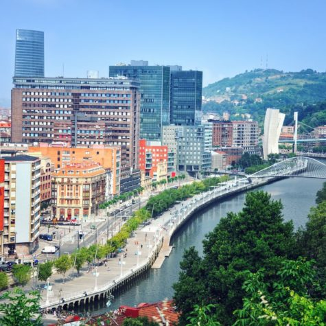 Aerial view of Bilbao