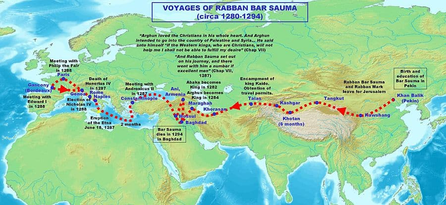 Rabban Bar Sauma journey