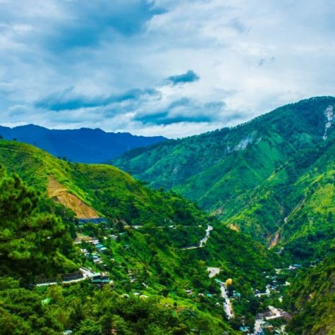 Mountain Views over Baguio City Philippines