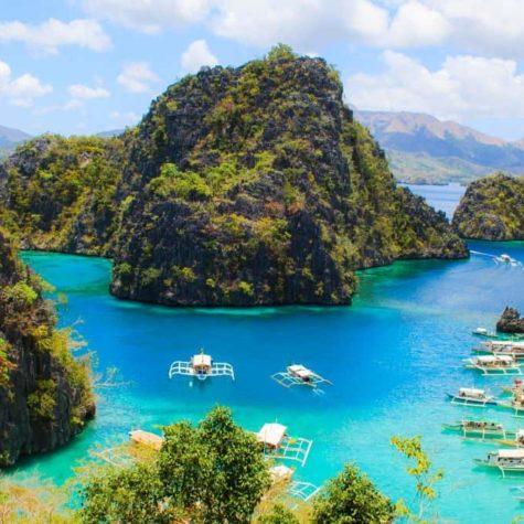 Landscape of tropical island.