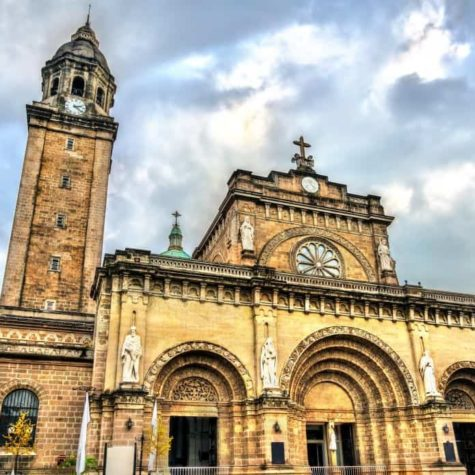 Manila Cathedral in Intramuros, the Philippines