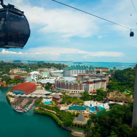 Cable Cars in Sentosa