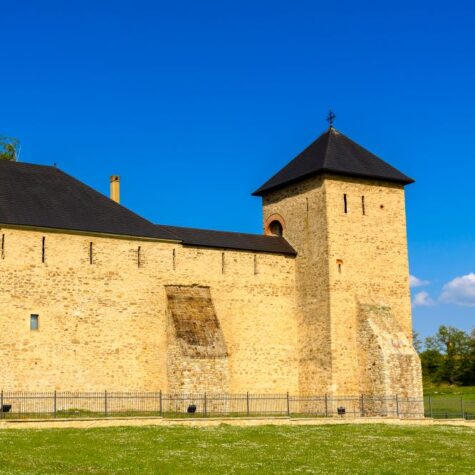 Dragomirna Monastery, the tallest medieval monastery in northern Moldavia, Romania