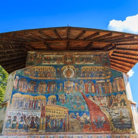 Voronet Monastery, Bucovina, Romania.