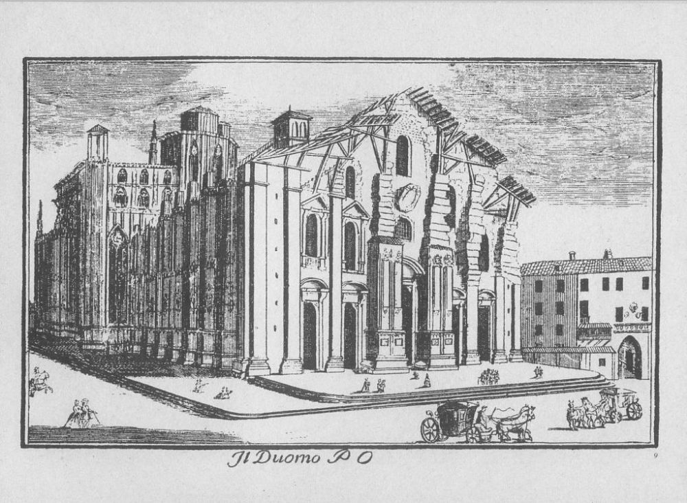 Domul din Milano, în anul 1745