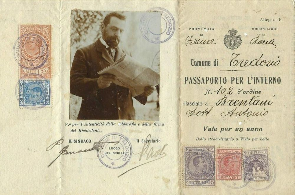 pasaport italienesc 1918